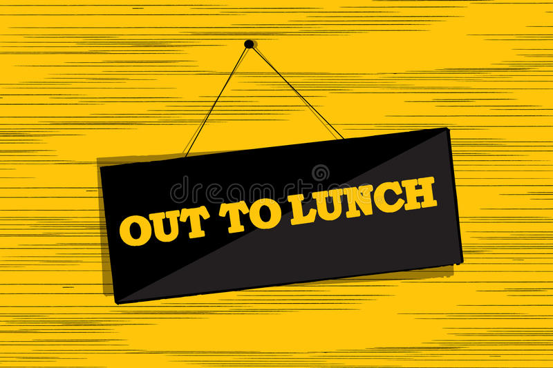 Download Out to lunch message stock vector. Image of text, artistic - 28035467