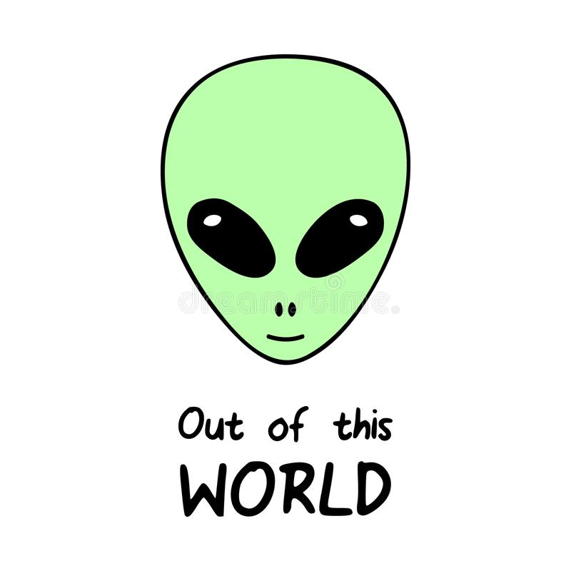 Out of this world, alien vector illustration vector illustration