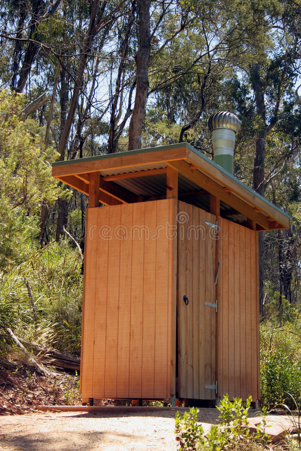 Outback dunny; tall view royalty free stock photography