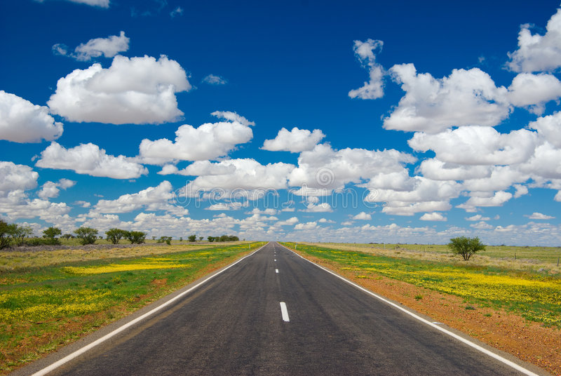 Outback Highway royalty free stock images