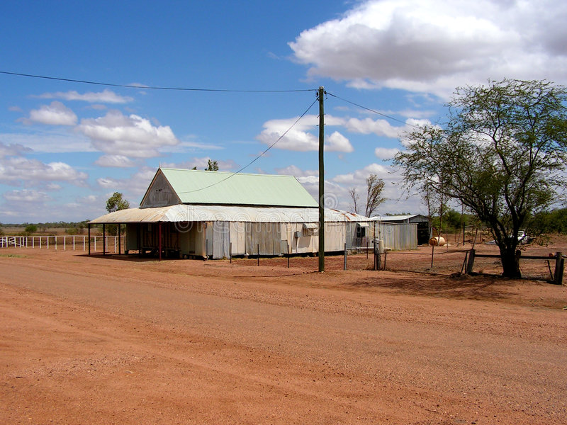 Outback house, corrugated iron royalty free stock images