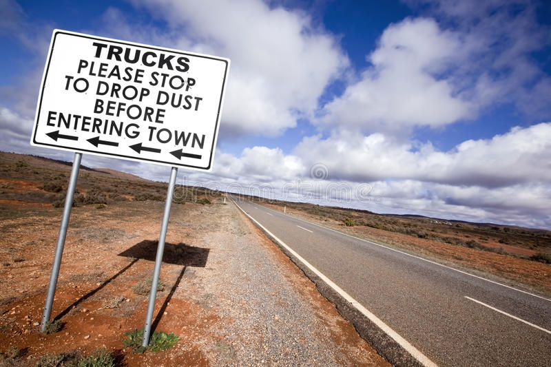 Outback Road Sign stock photos