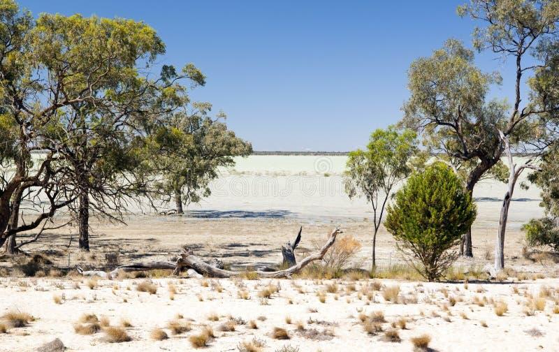 Outback See lizenzfreies stockfoto