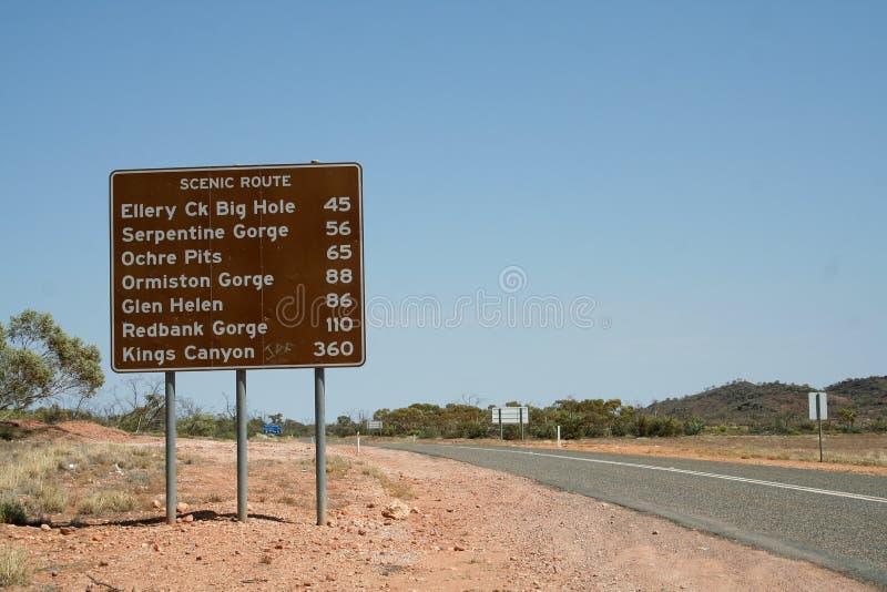 Outback segnale stradale fotografia stock libera da diritti