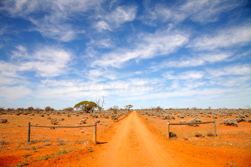 Outback strada Australia immagine stock