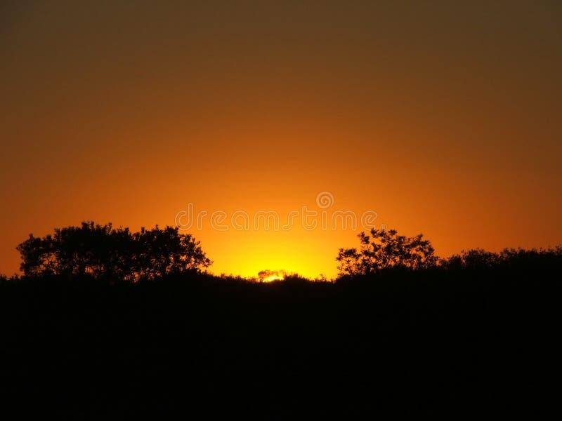 Outback tramonto immagine stock libera da diritti