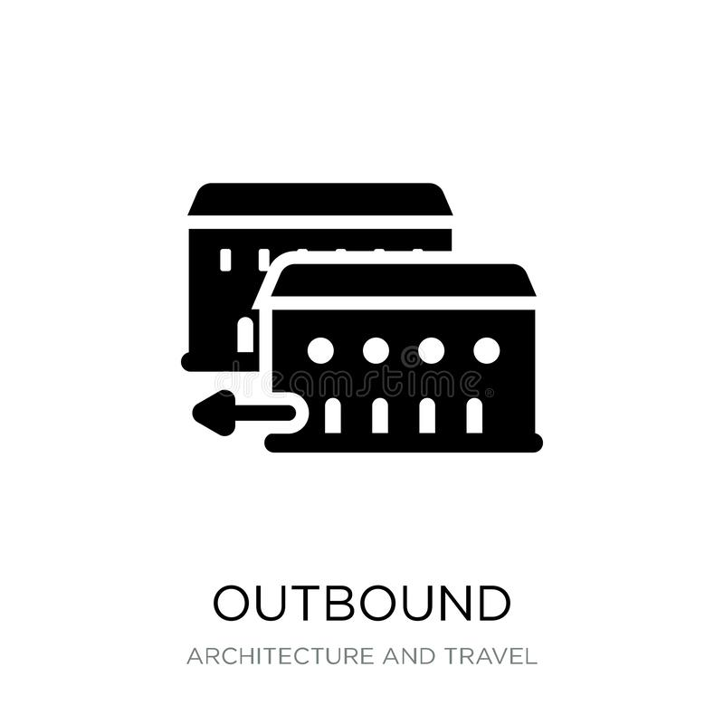 outbound icon in trendy design style. outbound icon isolated on white background. outbound vector icon simple and modern flat royalty free illustration