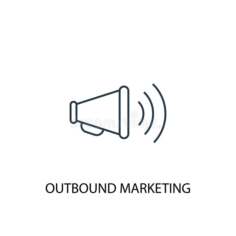 Outbound marketing concept line icon royalty free illustration