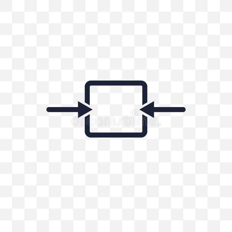 Outbound transparent icon. Outbound symbol design from Architect royalty free illustration