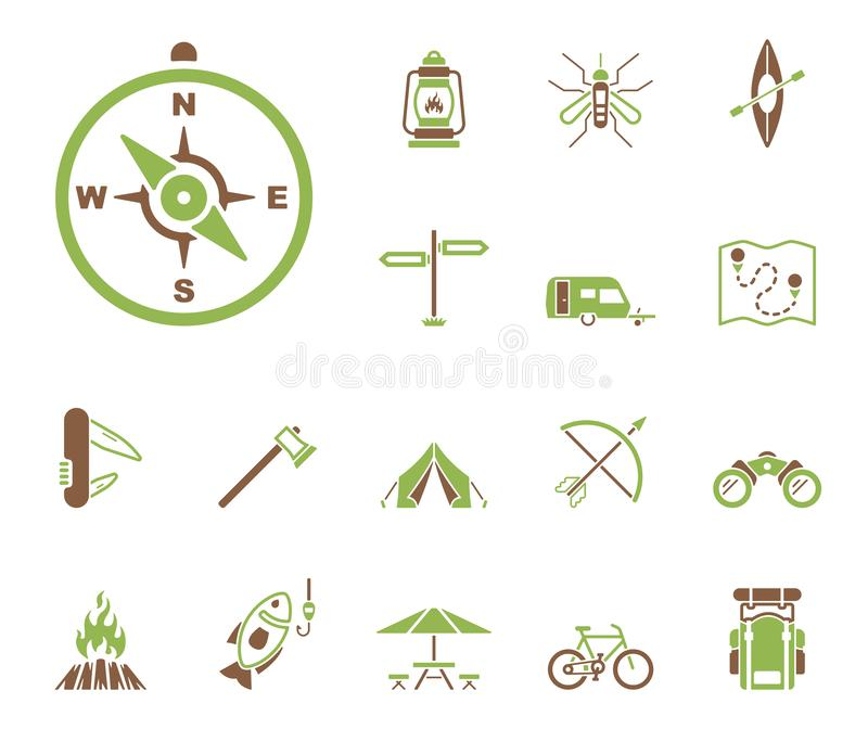 Outdoor Activities - Iconset - Icons royalty free illustration