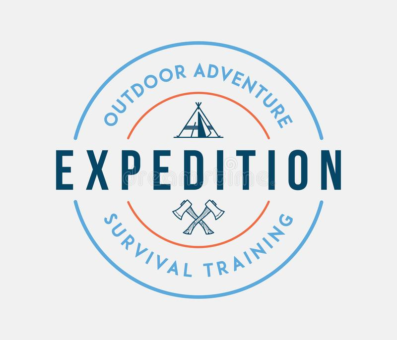 Outdoor adventure exploration. Is a vector illustration about discovering royalty free illustration