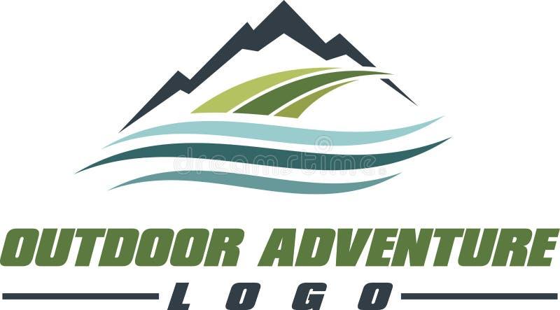 Outdoor Adventure Logo Royalty Free Stock Image