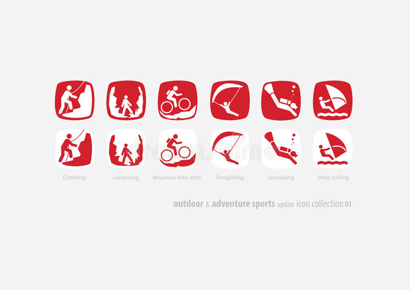 Outdoor & adventure sports icon coll#01 update vector illustration