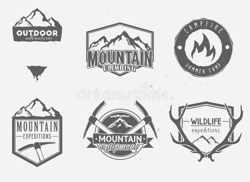 Outdoor adventures icons stock illustration