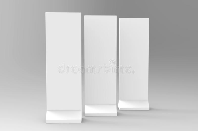 Outdoor Advertising POS POI Stand Banner Or Lightbox. Illustration Isolated On White Background. Mock Up Template Ready For Your D stock illustration