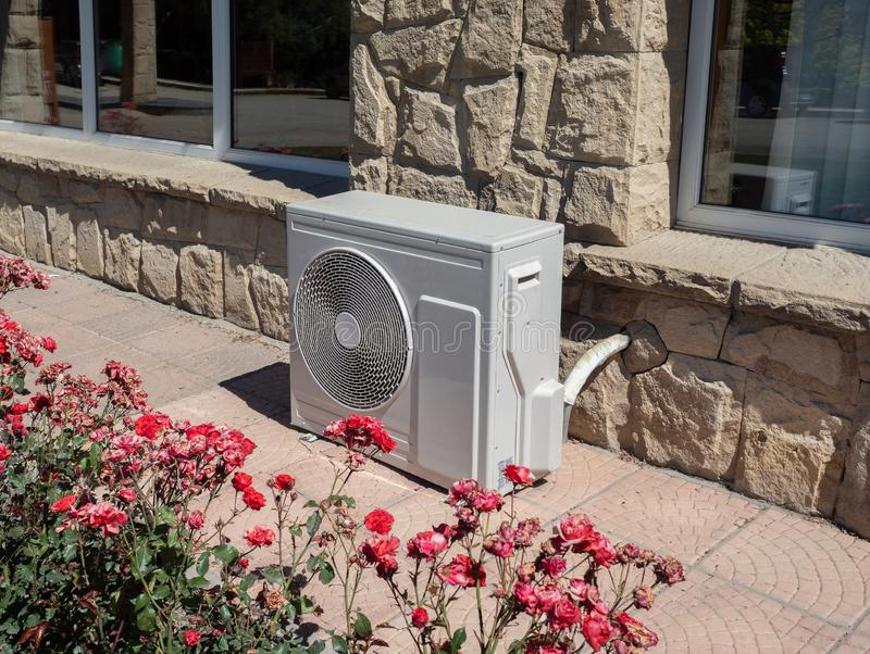 Outdoor air conditioning and heat pump unit stock image
