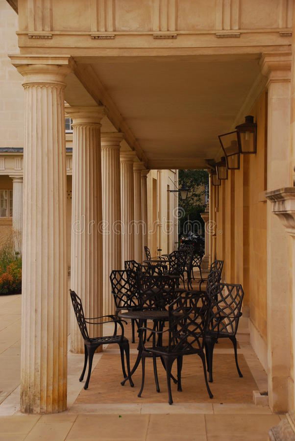 Download Outdoor Al Fresco Dining Setup Stock Photo - Image of architecture, french: 32242310