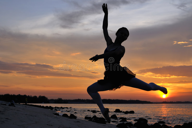 Download Outdoor Ballet By The Sunset Stock Photography - Image: 5299272