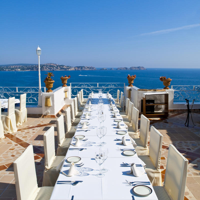 Download Outdoor Banquet Table stock photo. Image of spain, lunch - 19225764