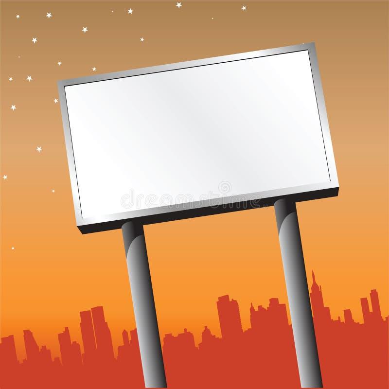 Download Outdoor Billboard stock vector. Image of commercial, message - 12392550