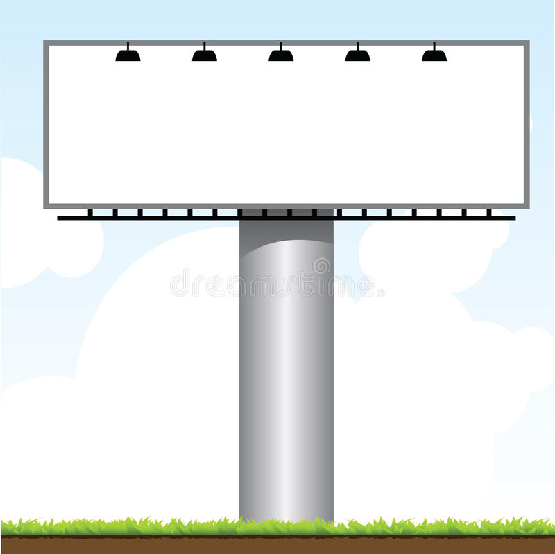 Download Outdoor Billboard stock vector. Image of marketing, banner - 19383270