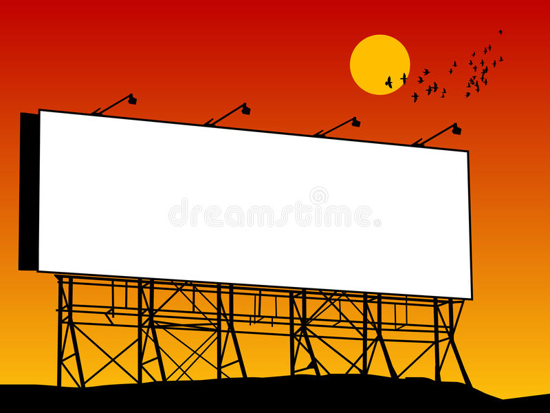 Download Outdoor billboard stock vector. Illustration of large - 24470126