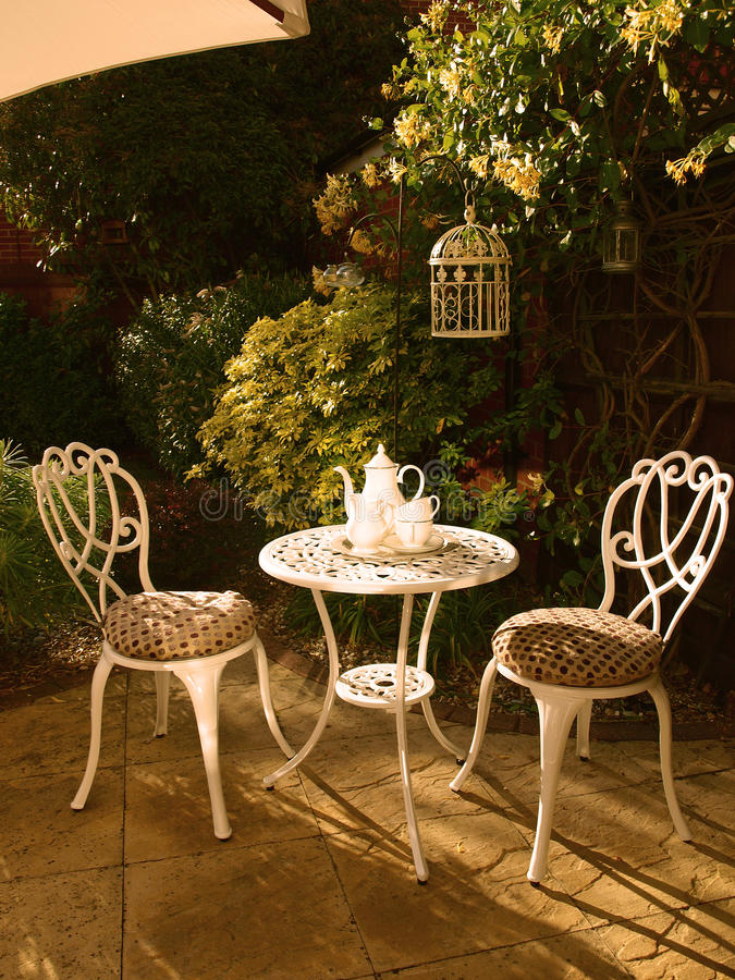 Outdoor Bistro Set royalty free stock images