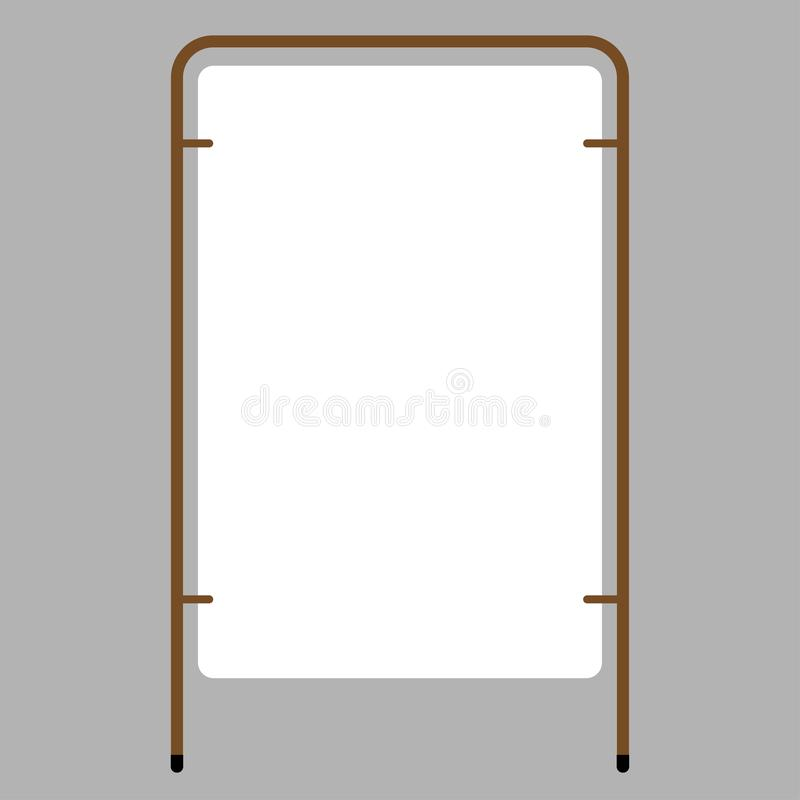 Outdoor blank advertising stand with the frame royalty free illustration