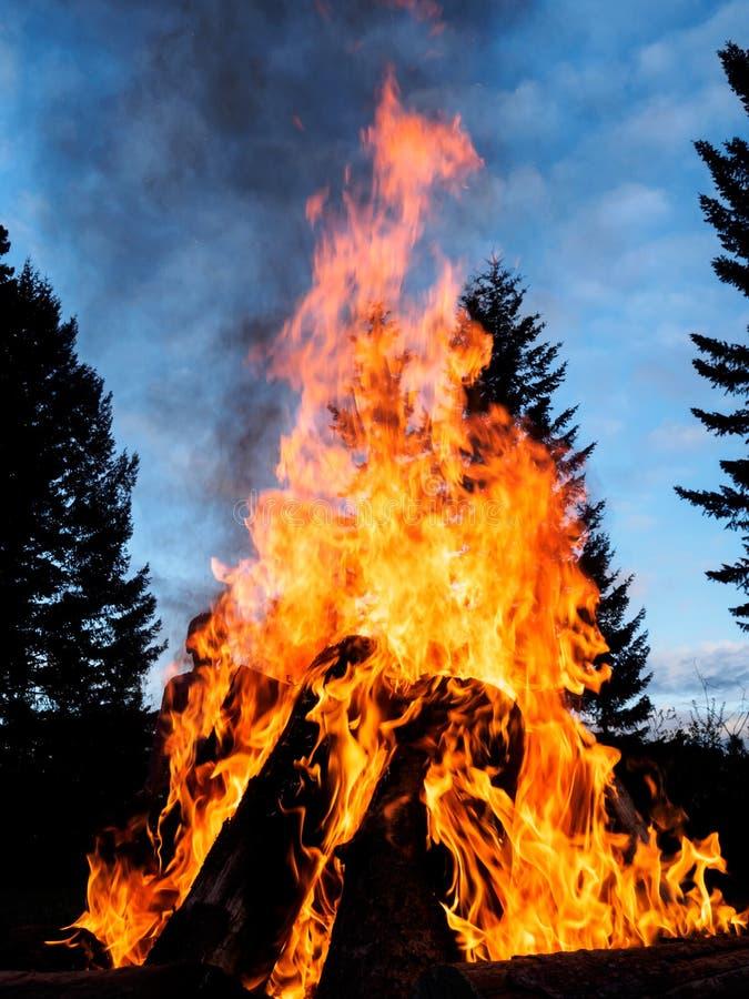 Outdoor bonfire royalty free stock photography