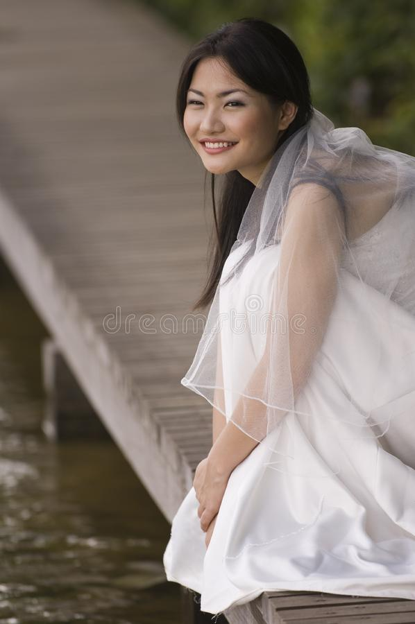 Outdoor Bride 6 royalty free stock photography