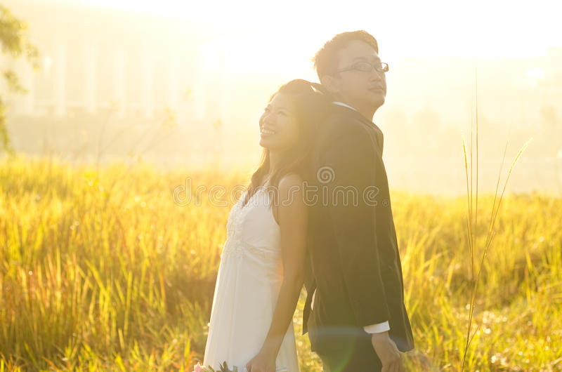 Download Outdoor Bride and Groom, stock photo. Image of leaning - 21774196