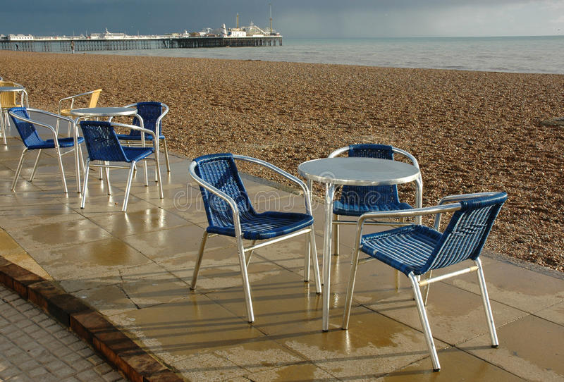 cafe chairs brighton beach stock image image of drink 32995577