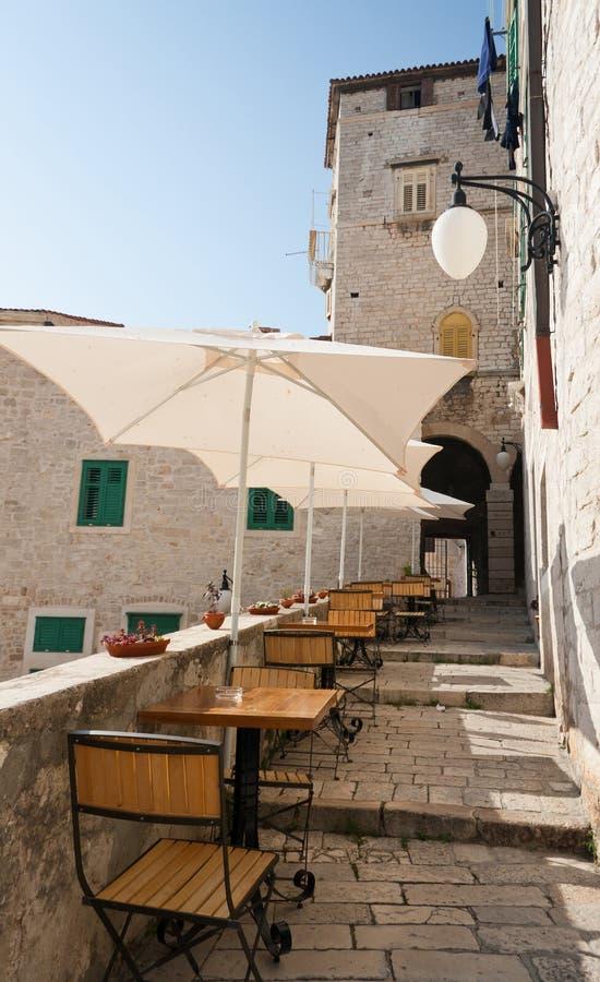 An outdoor cafe in Croatia