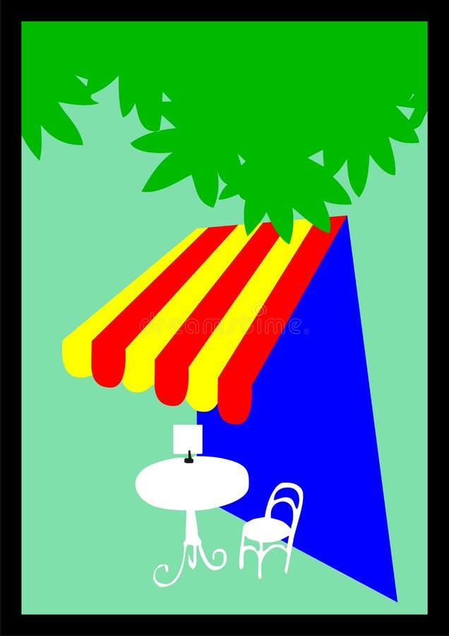 Download Outdoor cafe illustration stock illustration. Illustration of shaded - 5190893