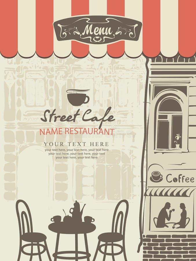 Download Outdoor Cafe Menu Stock Vector - Image: 83724384