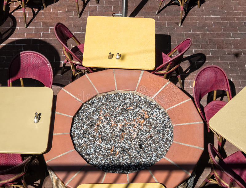 Outdoor cafe seating royalty free stock photography