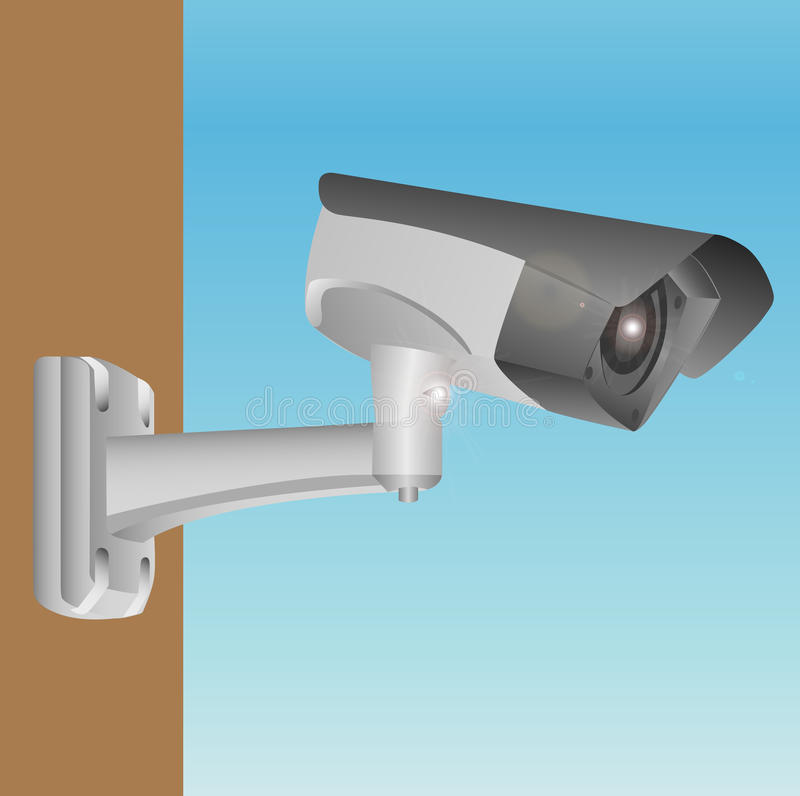 Download Outdoor camera stock illustration. Image of security - 17708094