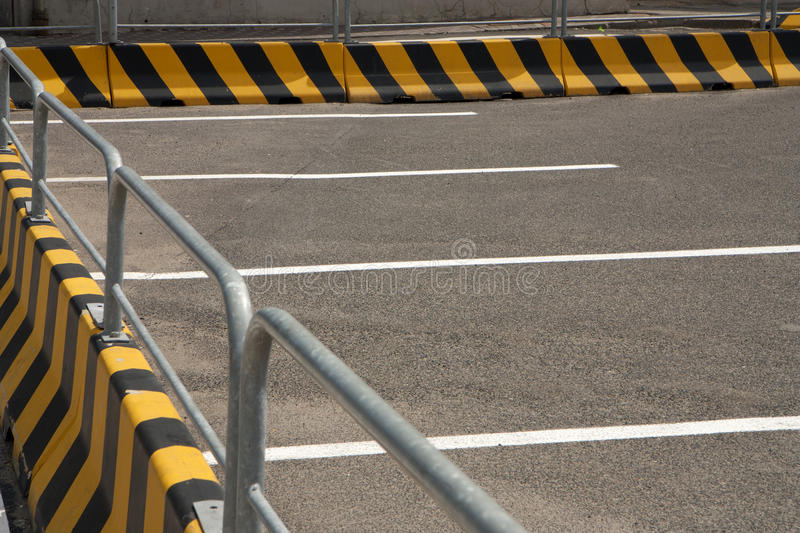 Outdoor car park stock images