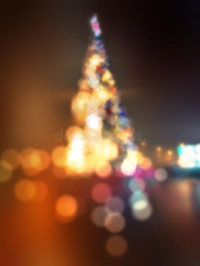 Outdoor christmas tree royalty free stock images