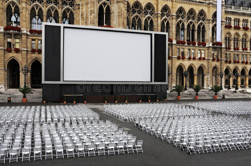 Download Outdoor cinema stock image. Image of show, outdside, pictures - 20791675