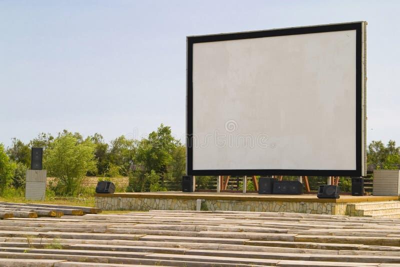 Outdoor cinema royalty free stock photo