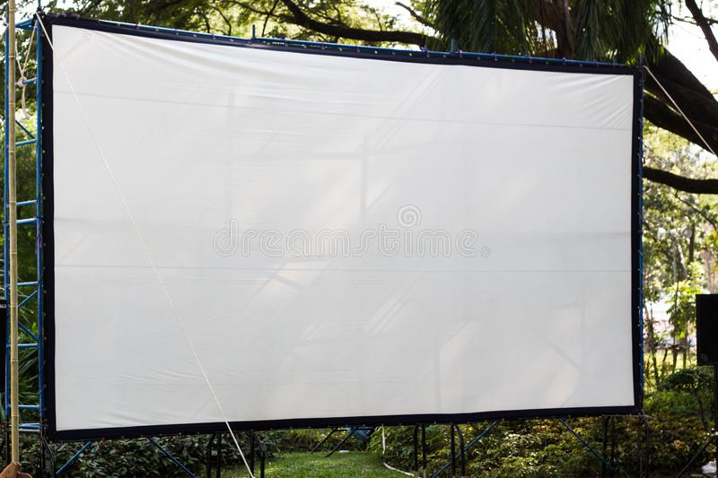 Outdoor cinema movies theater stock photos