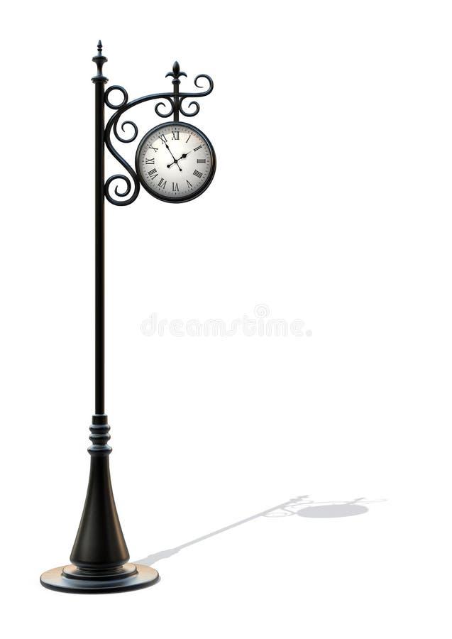 Outdoor clock 2 stock illustration