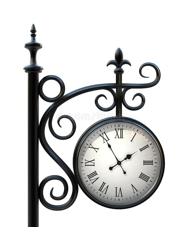 Download Outdoor clock stock illustration. Illustration of metal - 9078280