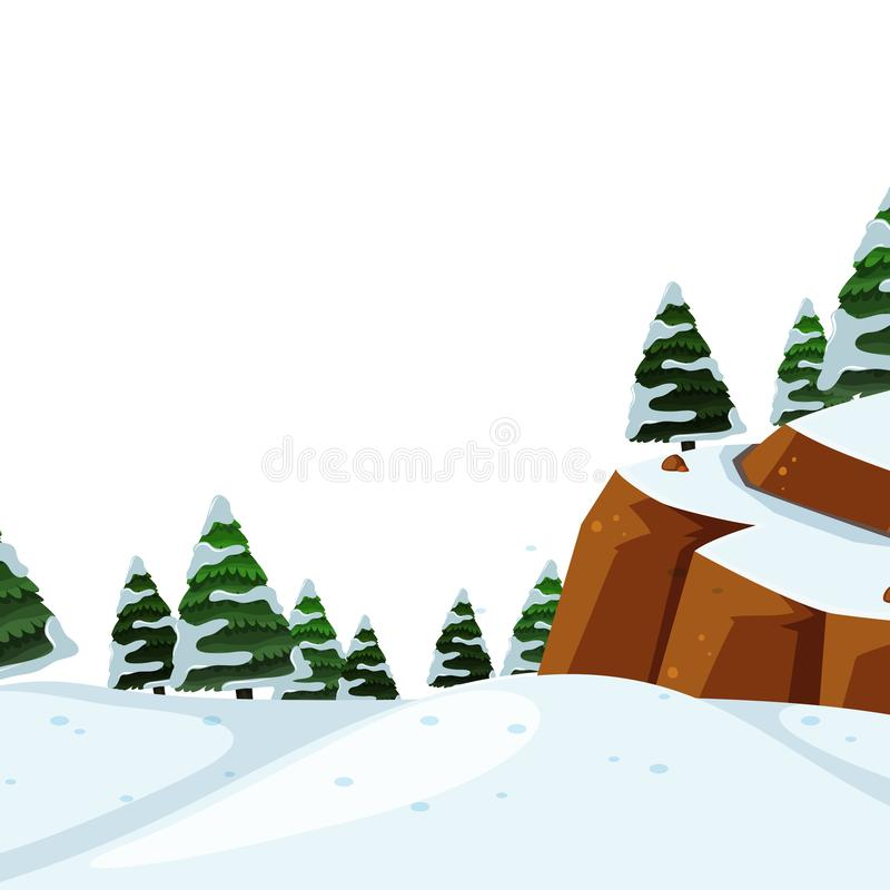 Outdoor cold winter landscape. Illustration stock illustration