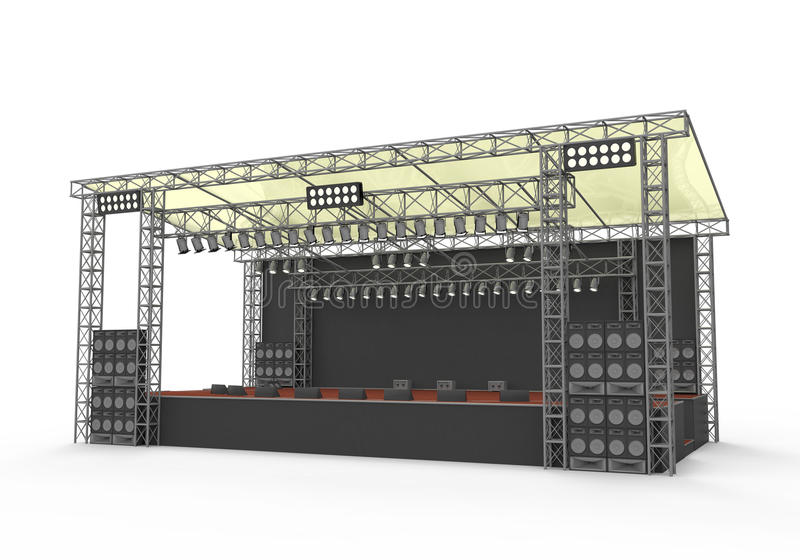Download Outdoor Concert Stage stock illustration. Illustration of event - 31721810