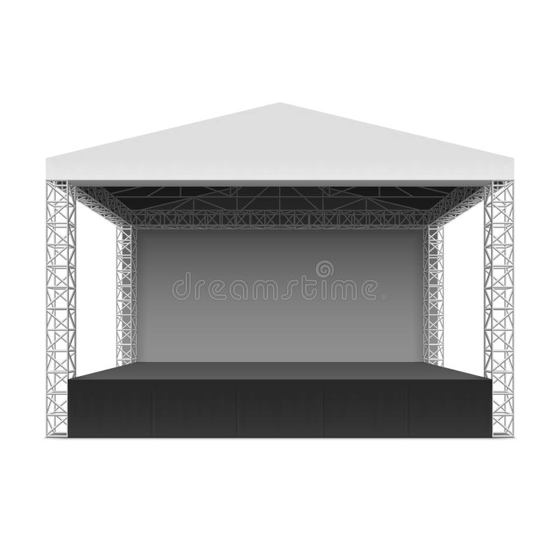 Outdoor concert stage vector illustration