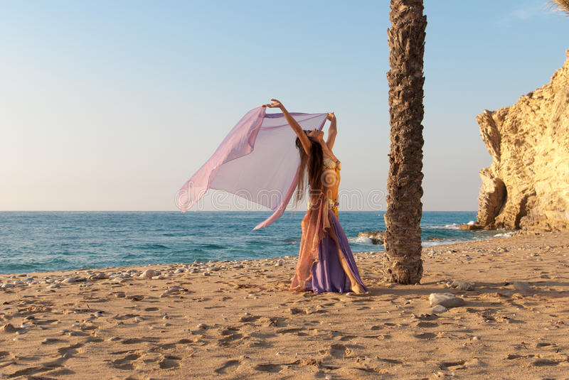 Download Outdoor dancing stock image. Image of female, copy, exoticism - 17162177