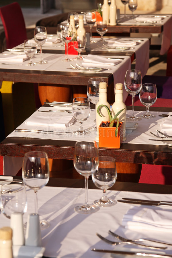 Outdoor dining royalty free stock photo