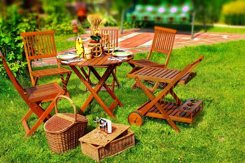 Outdoor Dining Scene stock images